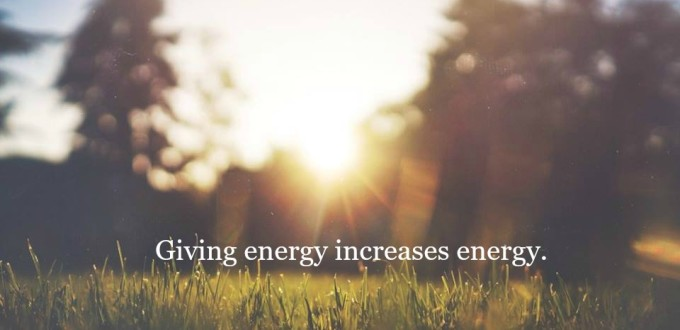giving energy increases enegy