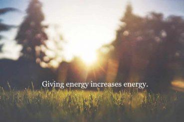 giving energy increases enegy