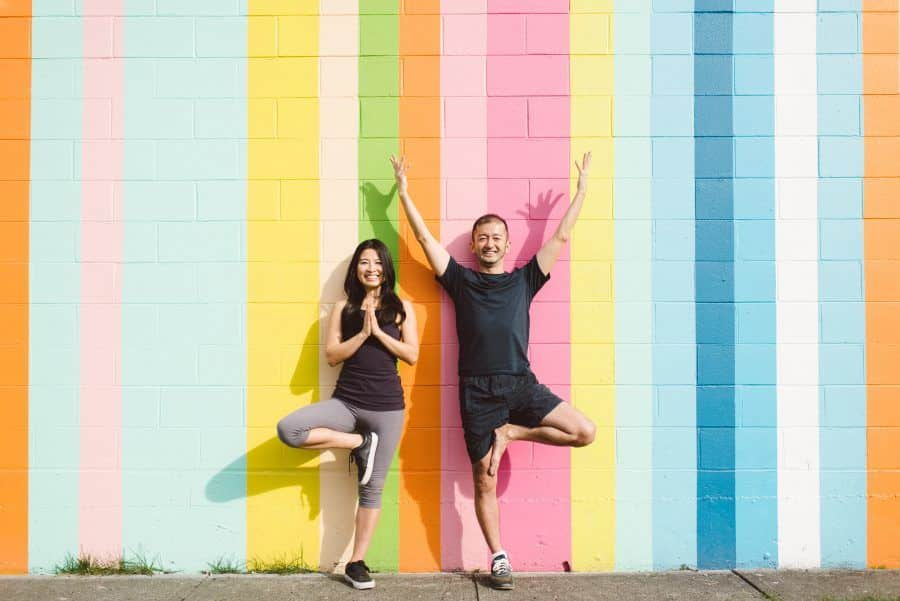 Tomo & Arisa yoga in Vancouver
