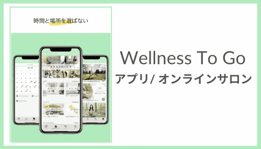 wellness to go アプリ
